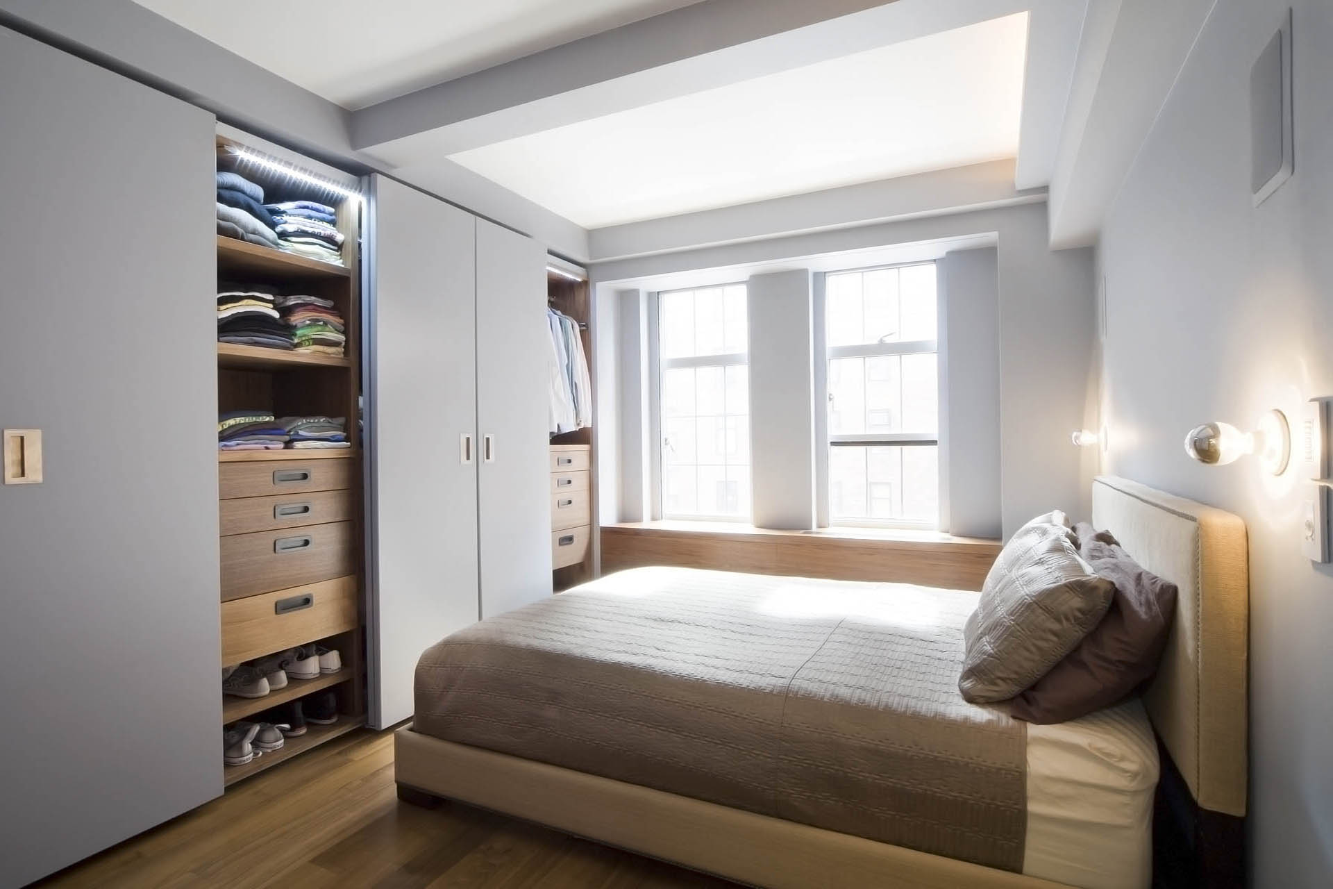Bedroom at West 24th Street - Element Design Group NYC